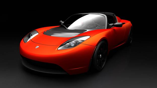 The Tesla Roadster, an super-car that's powered by batteries. It can travel up to 245 miles on a charge and accelerate to 60mph in just 3.7 seconds, but charging it from a household electrical outlet could take 60 hours!
