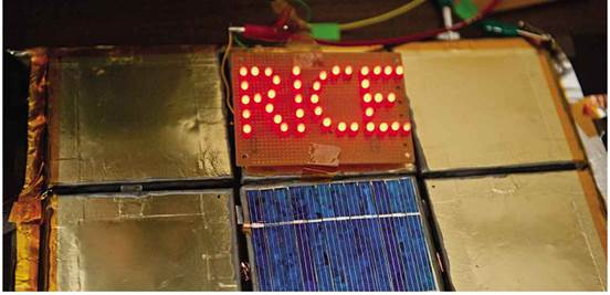 Rice University has developed a means to spray batteries onto any surface, allowing them to become part of construction materials