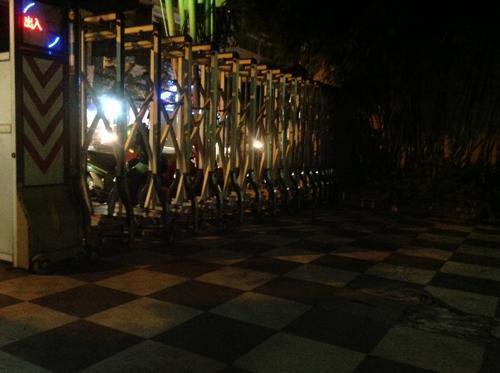 A night scene captured by rear 5MP camera