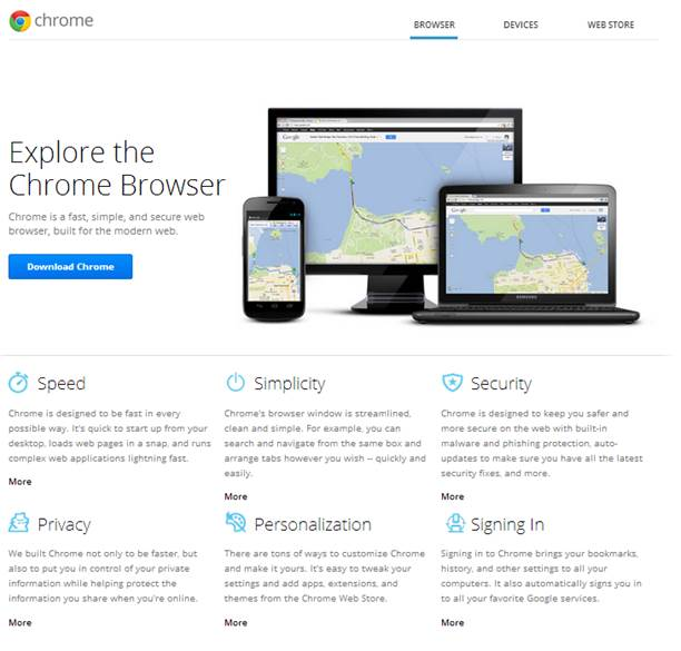 The Chrome Web Store has a huge range of apps, making the browser more fun and more useful