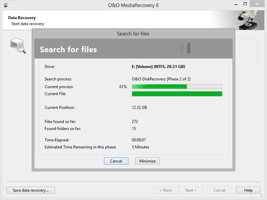 Recover data from removable media with O&O MediaRecovery 6