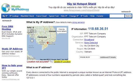 This website works out where in the world you're located. With a VPN it's completely wrong