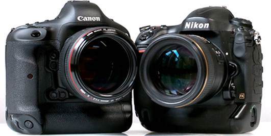 canon and nikon face in every series about full frame cameras price in addition sony also return after many years of being absent from this market