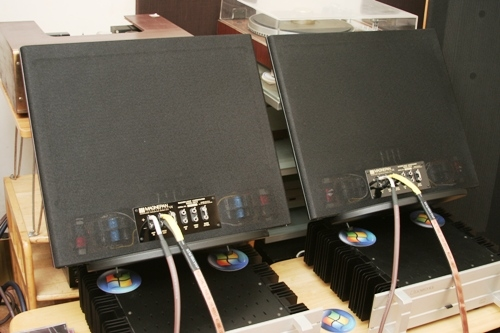 Two bass panels were joined with main speakers in parallel setup.