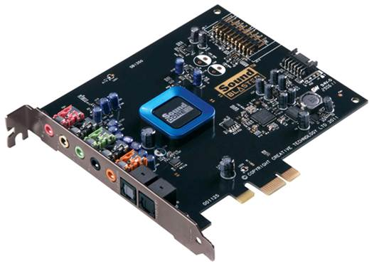 A Creative Sound Blaster Recon 3D sound card
