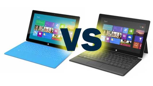 Description: Microsoft Surface for Windows RT vs Microsoft Surface for Windows 8 Pro