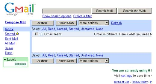 Gmail has one of the best spam-blocking features of any mail provider.