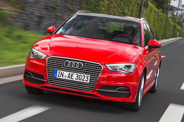 The A3 e-tron is a plug-in petrol-electric hybrid version of the A3 Sportback