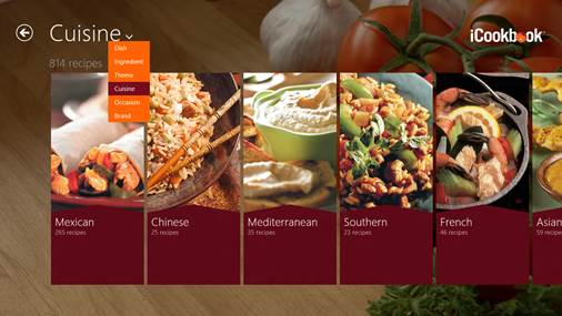 The recipe app by Bewise is the best we've yet seen for the Modern-UI style