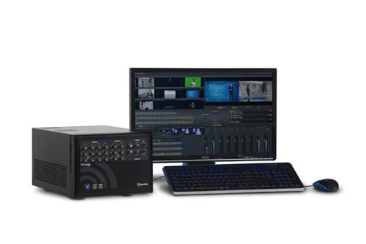 TriCaster 40 is an all-in-one, live production and streaming system that lets you publish live media