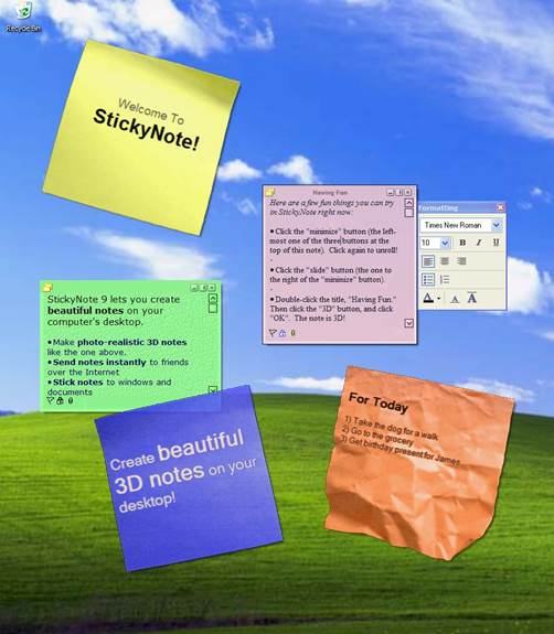 How to open a webpage via sticky notes in windows 10.