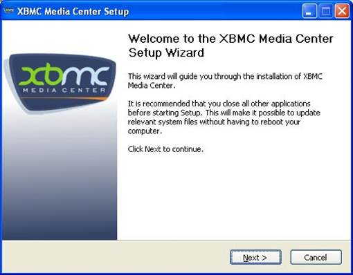When prompted to run or save the program, select 'Run'. The XBMC setup wizard will begin. Click 'Next', agree to the terms, and then de-select anything you might not need on the next screen.