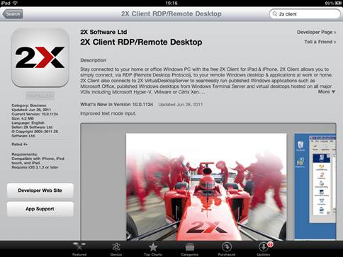 2X Client is a free app supplied by a RDP vendor and it's an excellent choice