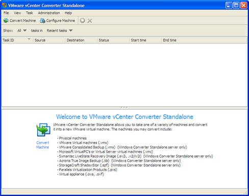 WMware vCenter Converter will now display a full summary of the settings that have been chosen