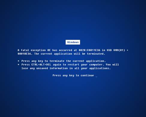 The blue screen can reveal useful information about PC crashes