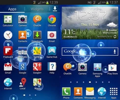 The Jelly Bean software feels very responsive to use, compared to older versions of Android.