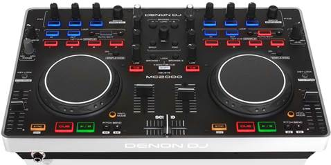 It's possible to map the MC2000 to work with other DJ software, but as a two-deck mixer it works just fine with the bundled software.