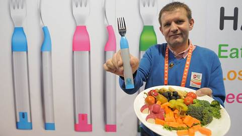 HAPIfork is a tool that detects how fast you eat your food