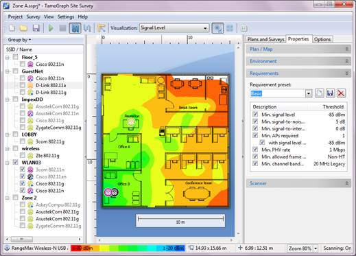 The Site Survey tool is where you can create or open site survey projects