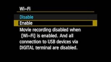 Enabling Wifi