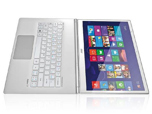 Acer's Aspire S7 folds flat to give a more tablet-like experience