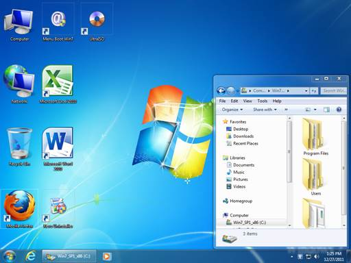 A recent OS such as Win7 can get by fairly well on 2GB or more memory