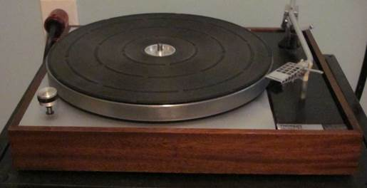 Thorens TD 150 seen here first went on sale in 1965