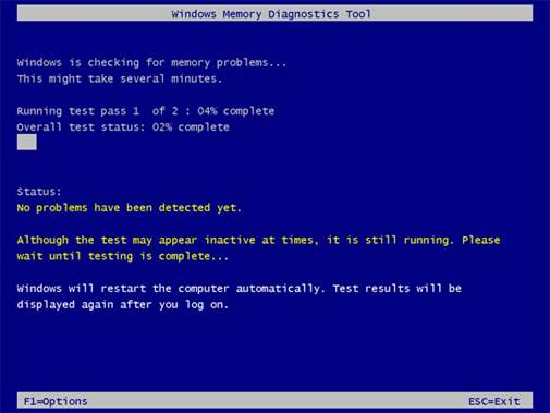 Windows Memory Diagnostics Tool will help you detect problems with your computer's RAM