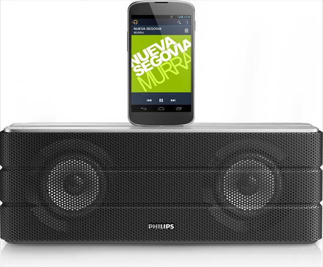 Description: Bringing both charging functionality and good music, the Philips AS860 makes a good centerpiece in your home