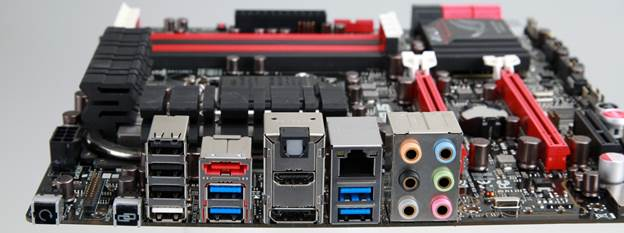 PCI-Express support includes two 16x lanes that work 16x/1x or 8x/8x, along with an open-ended 4x underneath and a 1x mPCIe via the Combo card