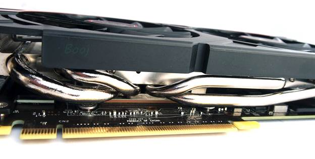 A better cooler means the GPU can sustain boost clocks that are higher, for longer