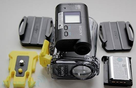 The Action Cam's accessories