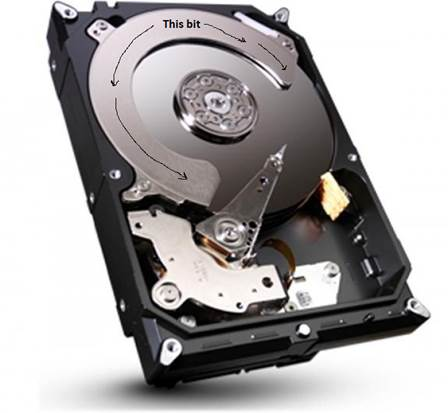 Hard disks contain moving parts, so they can never be totally silent