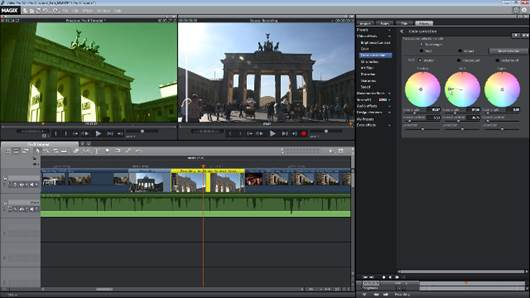 Magix has redesigned the toolbar in the timeline, making tasks a single click operation