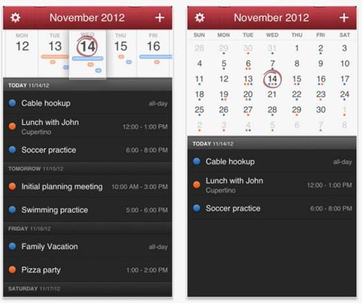 This iPhone app started life on the Mac, offering easy access to calendars, and quick approaches for creating new appointments