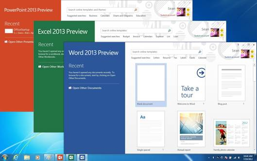 Word, Excel, and other Office programs are now included in a hosted service called Office 365