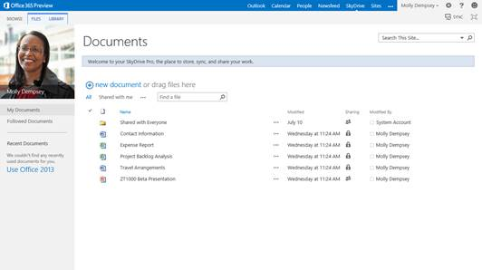 Another advantage of SharePoint is the ability for multiple users to work in the same documents simultaneously