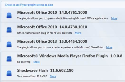 Some necessary plug-ins for the cloud Office 365 to be able to operate in the web browser
