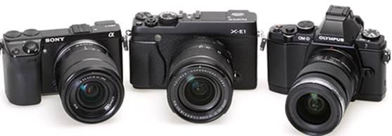 Sony Alpha NEX-7, X-E1, Olympus OM-D E-M5