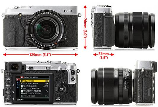 Close in design to the X-Pro1