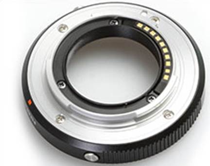 This is Fujifilm's adapter which allows use of Leica M-mount lenses on the X-E1 and the X-Pro1. The simply third-party versions have no electronic contacts, and therefore do not provide error correction options for lens.