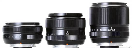 18mm F2, 35mm F1.4 and 60mm F2.4 Macro