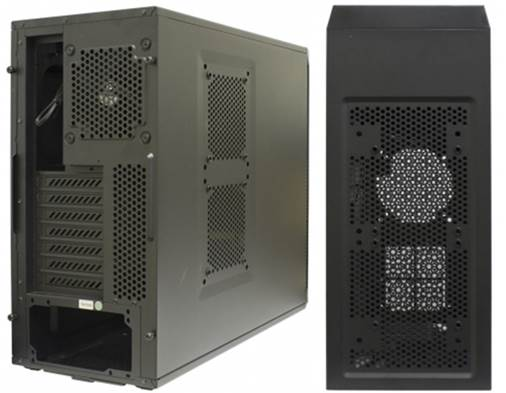 Back panel does not provide holes for a fluid cooling system