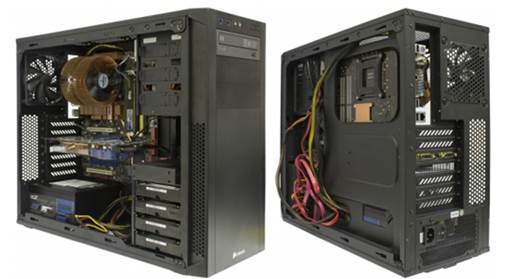 Wide cable compartment