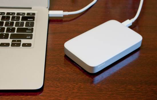 The Buffalo MiniStation Thunderbolt/USB portable HDD is a relatively inexpensive way of carrying a lot of data in a small package without having to worry too much about how you're going to connect it to your computer.