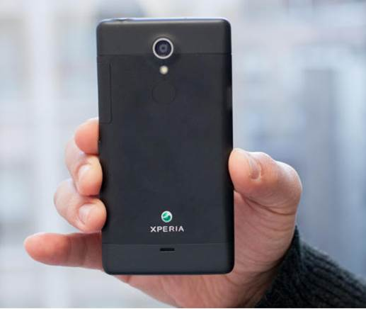 Xperia TL's back side