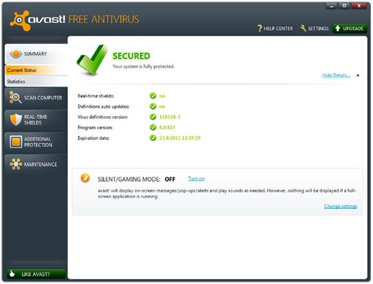 Avast Free Antivirus Version 7