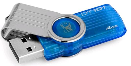 Kingston DataTraveler 101 G2 4GB Pen Drive (Blue)