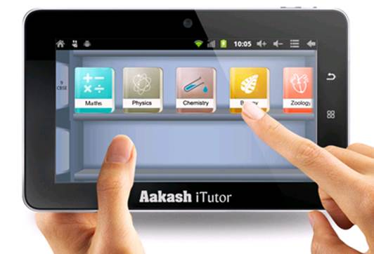 Akash Tutor tablet