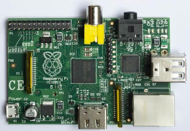 A Raspberry Pi model B